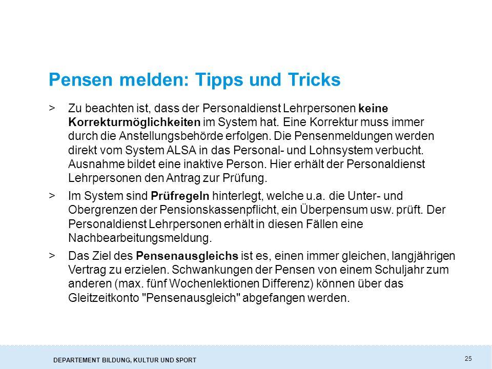 Pensen melden: Tipps und Tricks