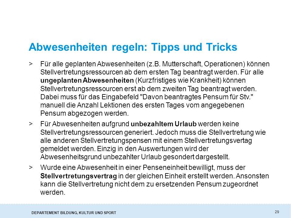 Abwesenheiten regeln: Tipps und Tricks