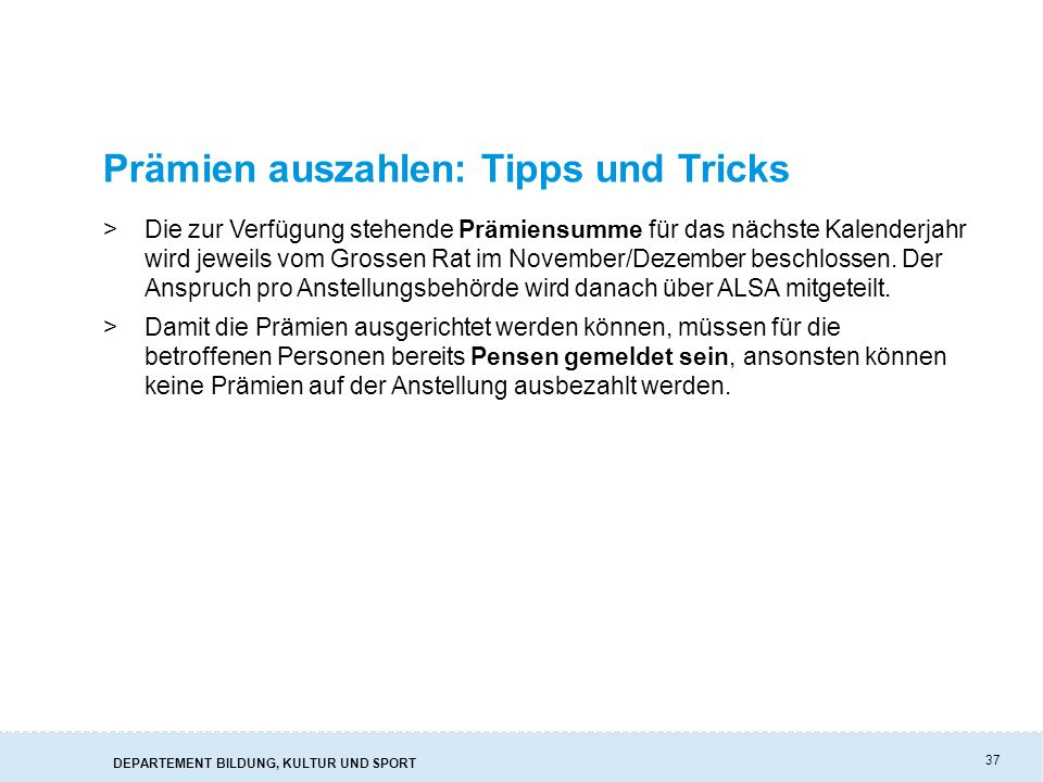 Prämien auszahlen: Tipps und Tricks