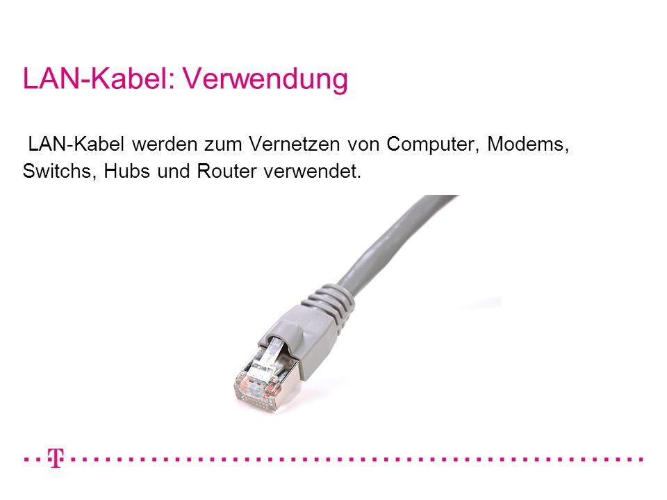 LAN-Kabel: Verwendung