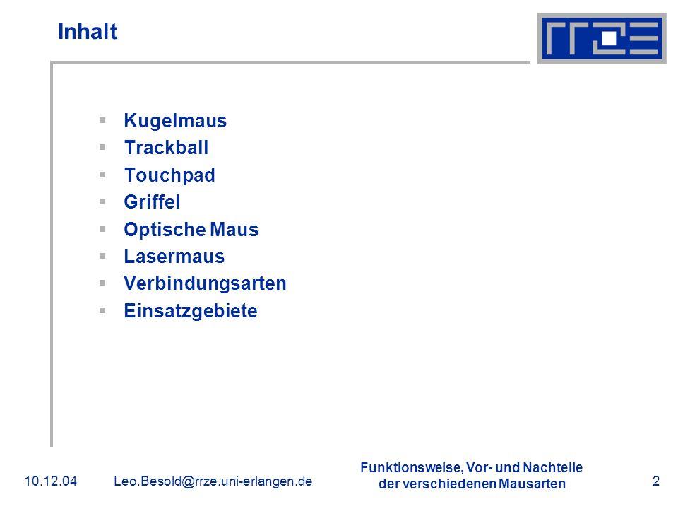 Inhalt Kugelmaus Trackball Touchpad Griffel Optische Maus Lasermaus