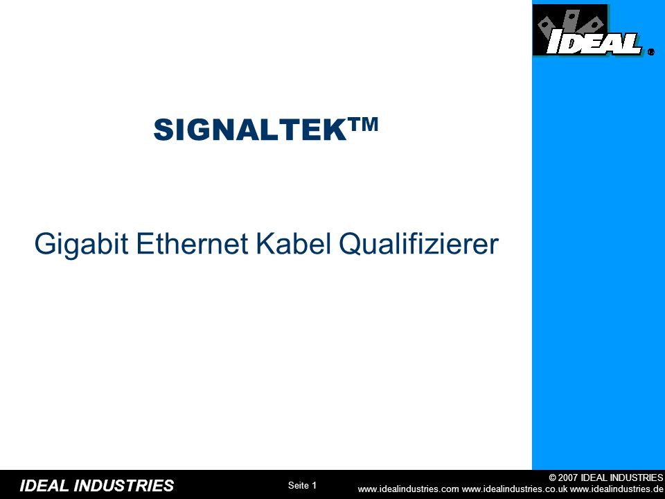 Gigabit Ethernet Kabel Qualifizierer