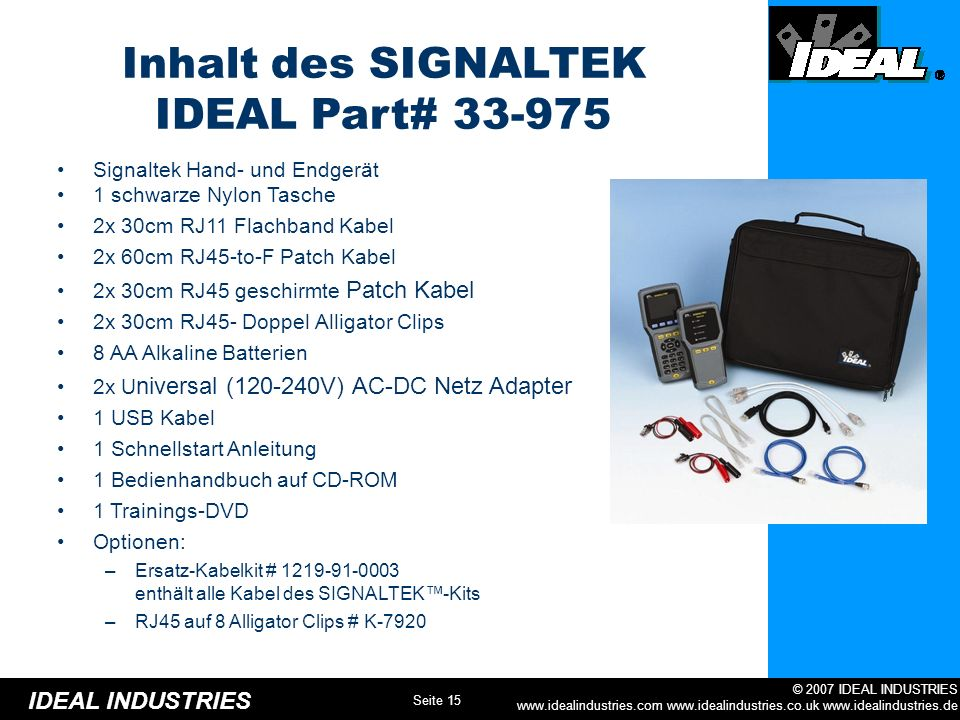 Inhalt des SIGNALTEK IDEAL Part# 33-975