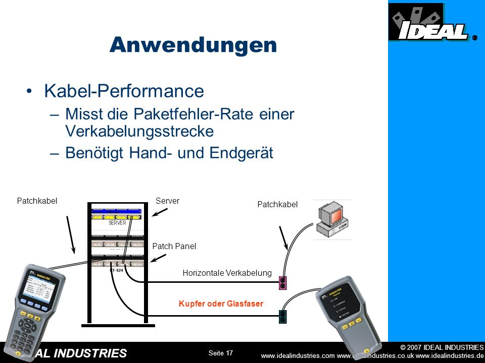 Anwendungen Kabel-Performance