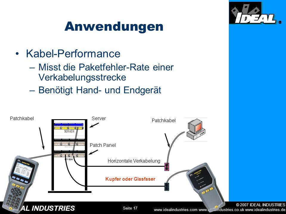 Anwendungen Kabel-Performance