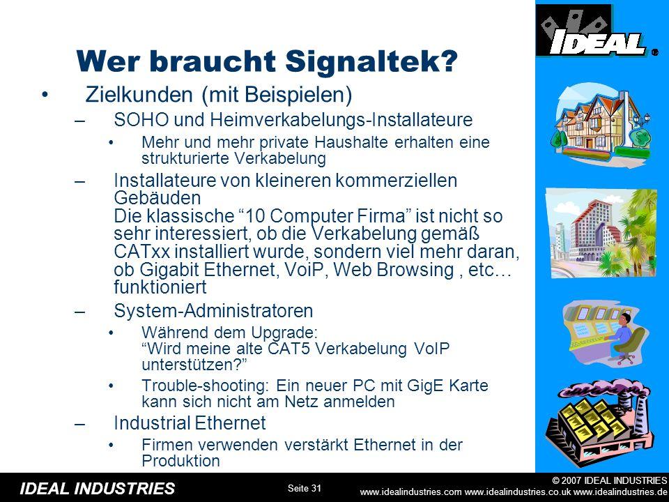 Wer braucht Signaltek Zielkunden (mit Beispielen)