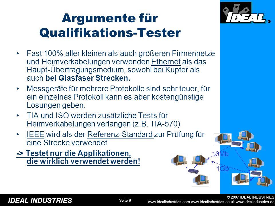 Argumente für Qualifikations-Tester