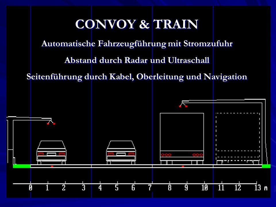CONVOY & TRAIN Automatische Fahrzeugführung mit Stromzufuhr
