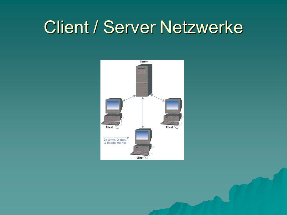 Client / Server Netzwerke