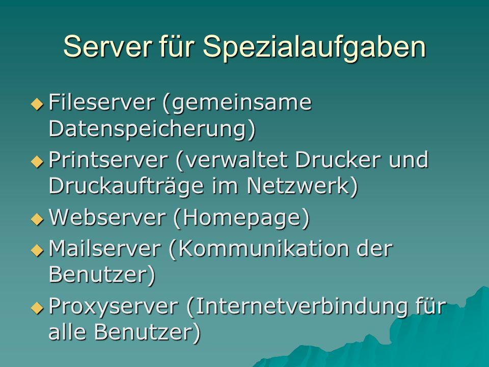 Server für Spezialaufgaben