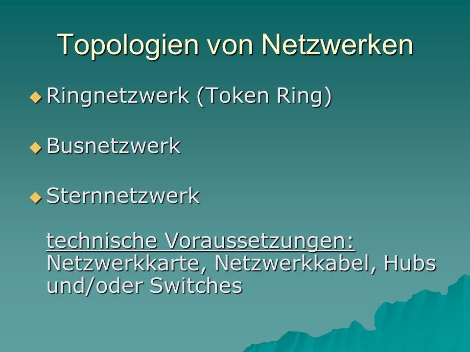 Topologien von Netzwerken