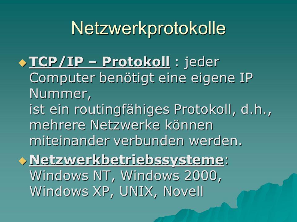 Netzwerkprotokolle