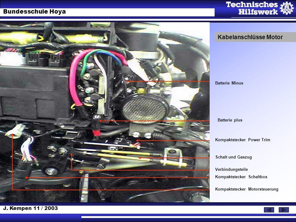 Kabelanschlüsse Motor