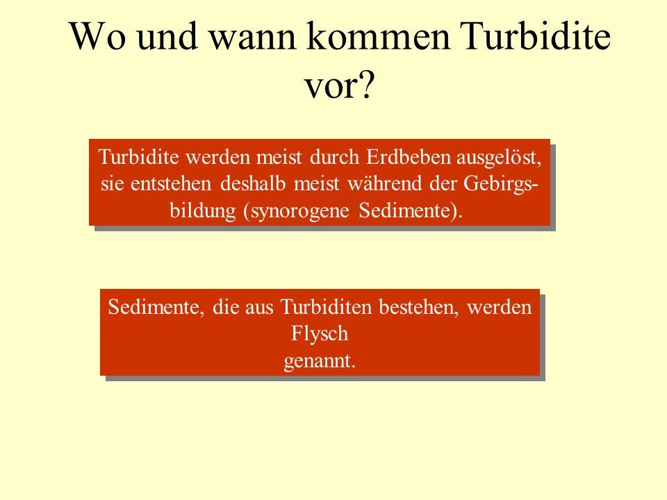 Wo und wann kommen Turbidite vor