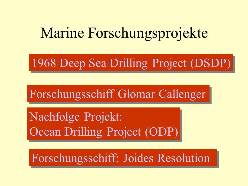 Marine Forschungsprojekte