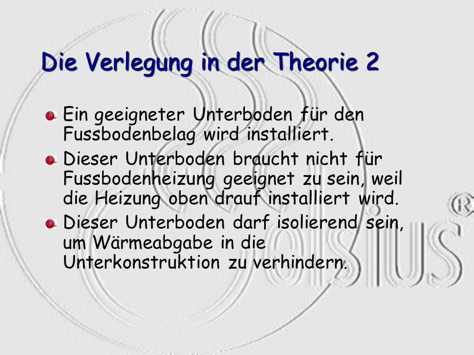 Die Verlegung in der Theorie 2