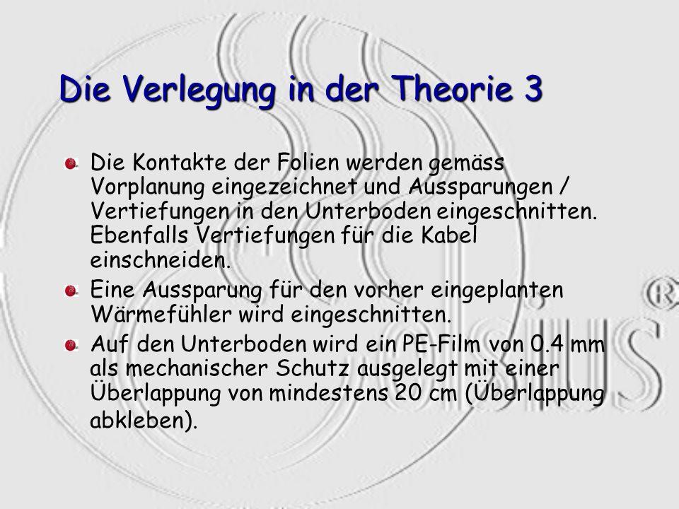 Die Verlegung in der Theorie 3