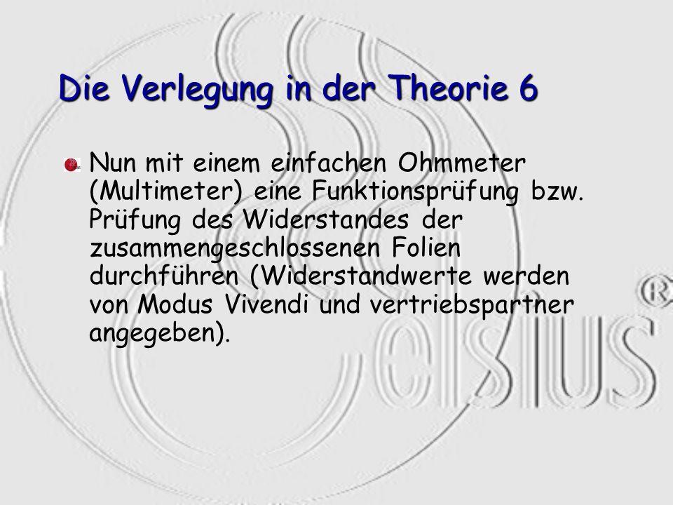 Die Verlegung in der Theorie 6