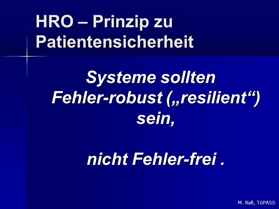 HRO – Prinzip zu Patientensicherheit