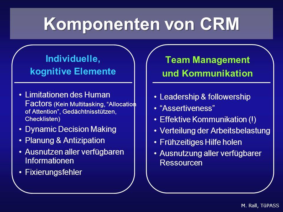 Komponenten von CRM Individuelle, kognitive Elemente Team Management