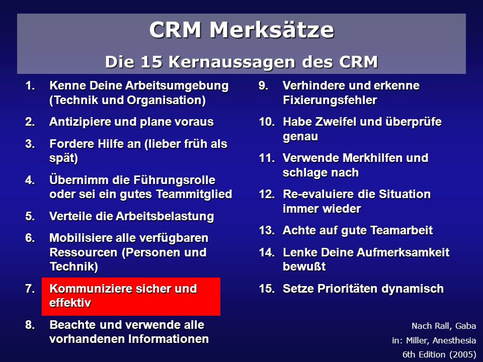 Die 15 Kernaussagen des CRM