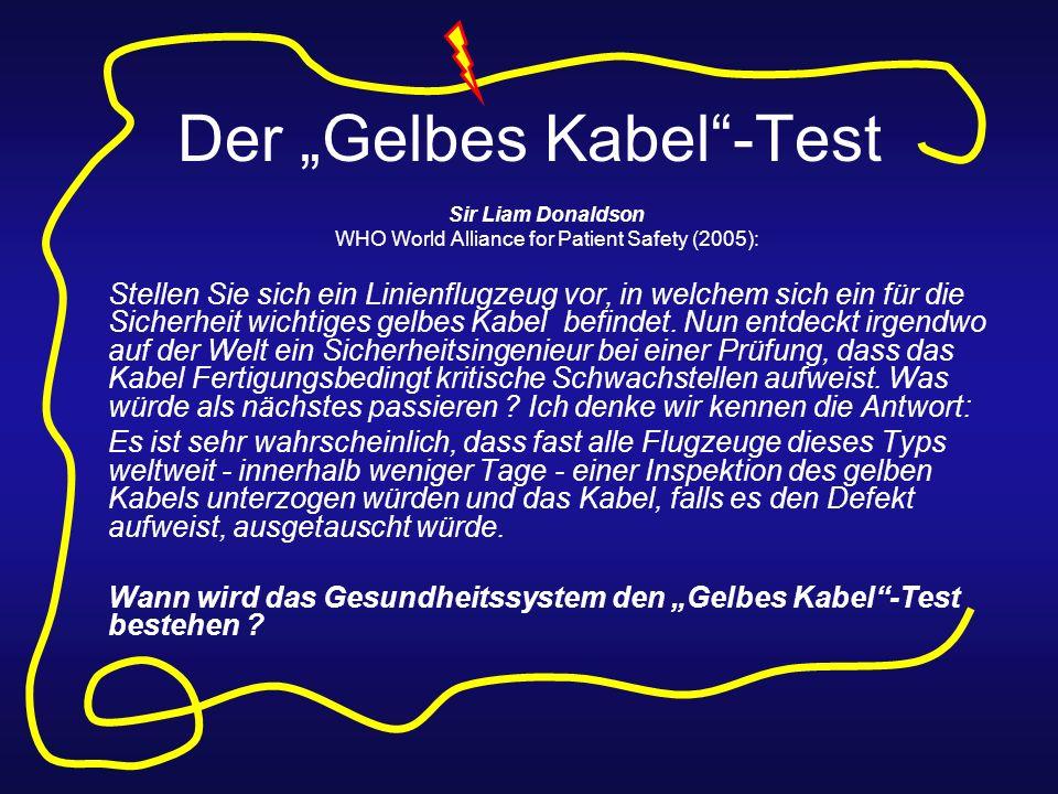 """Der """"Gelbes Kabel -Test"""