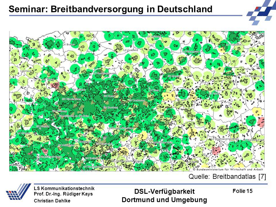 DSL-Verfügbarkeit Dortmund und Umgebung