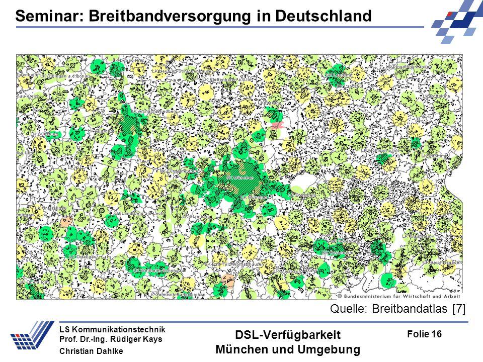 DSL-Verfügbarkeit München und Umgebung