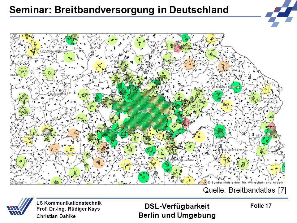 DSL-Verfügbarkeit Berlin und Umgebung