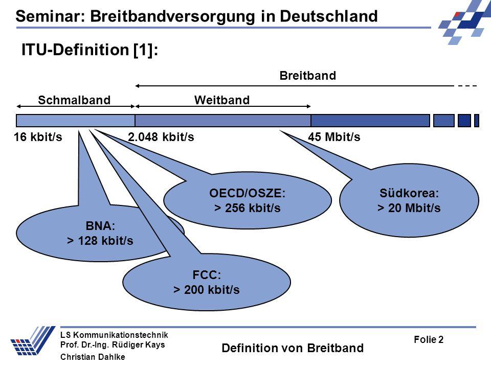 Definition von Breitband