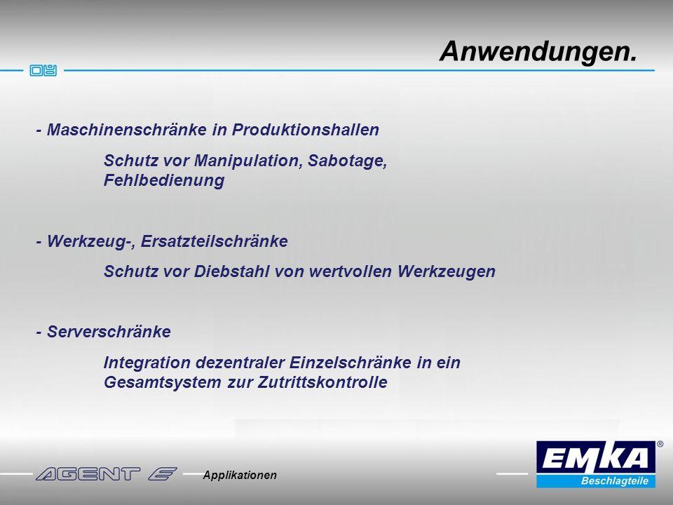 Anwendungen. - Maschinenschränke in Produktionshallen