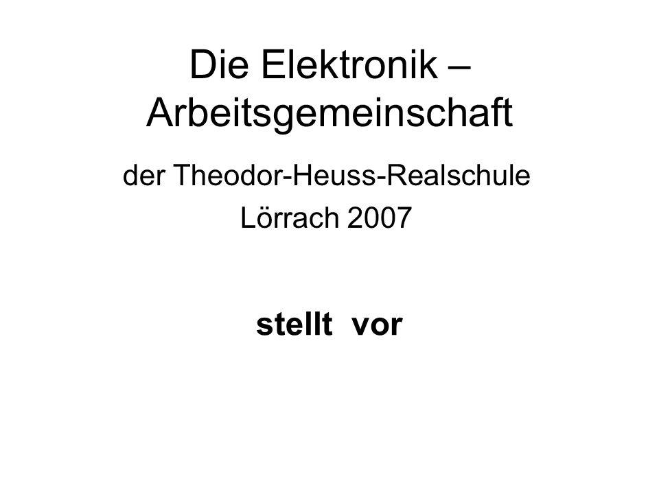 Die Elektronik – Arbeitsgemeinschaft