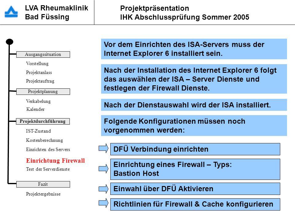 Einrichtung der Firewall