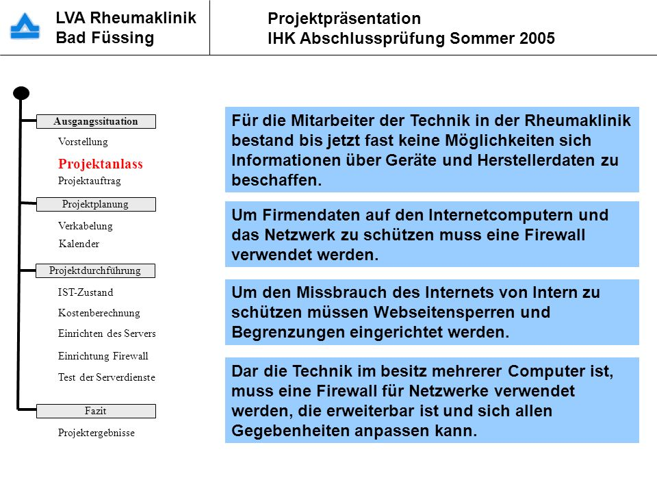 Für die Mitarbeiter der Technik in der Rheumaklinik bestand bis jetzt fast keine Möglichkeiten sich Informationen über Geräte und Herstellerdaten zu beschaffen.