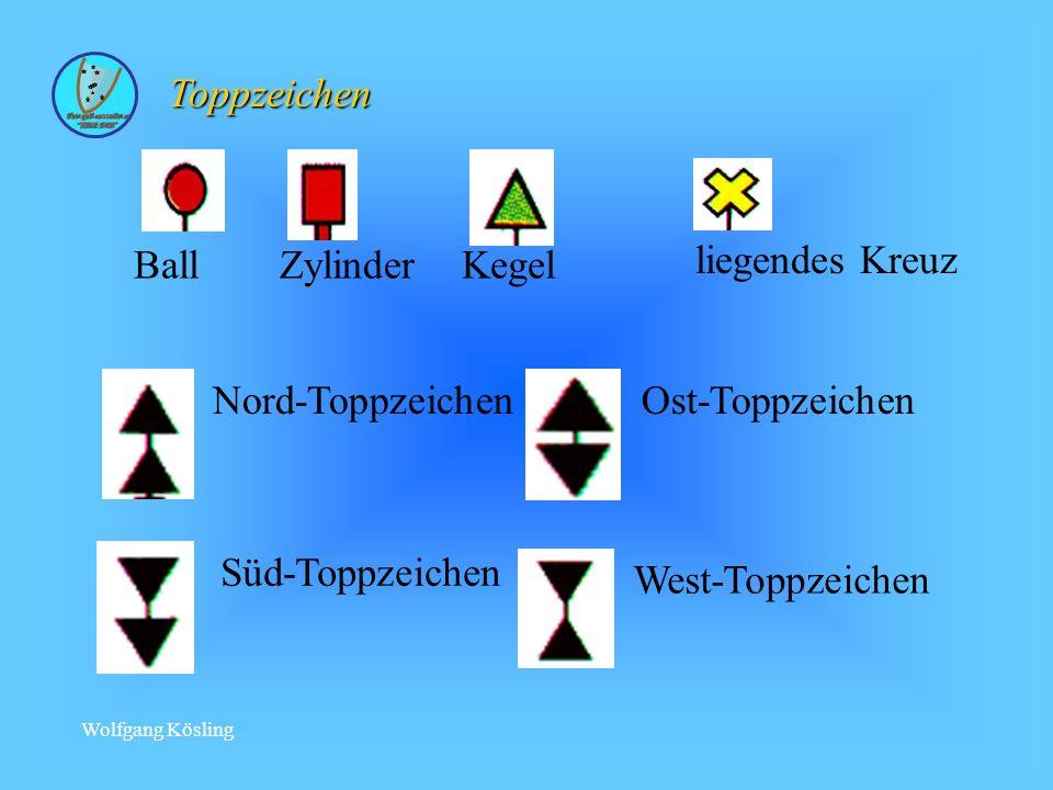 Toppzeichen Ball Zylinder Kegel liegendes Kreuz Nord-Toppzeichen