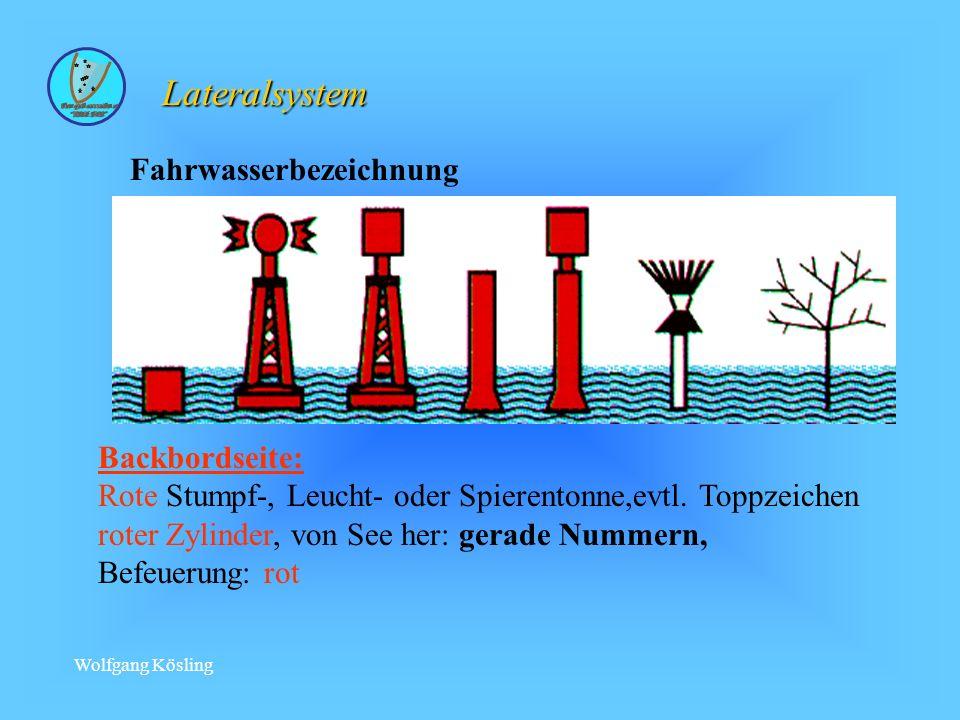 Lateralsystem Fahrwasserbezeichnung Backbordseite: