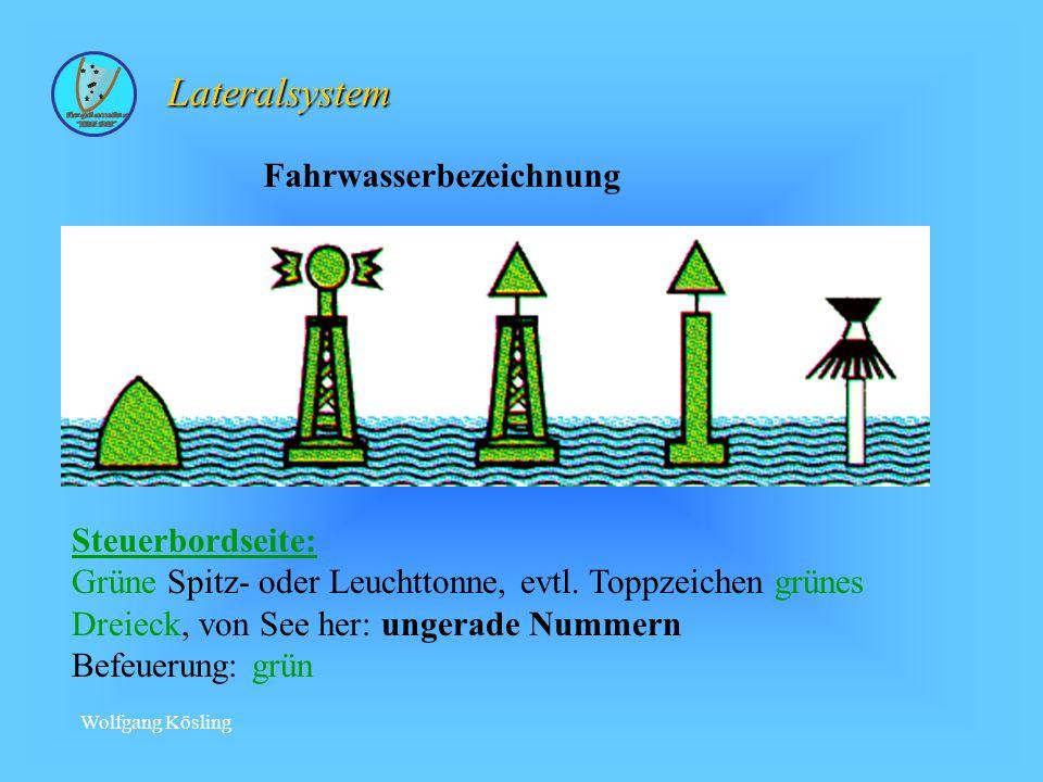 Lateralsystem Fahrwasserbezeichnung Steuerbordseite: