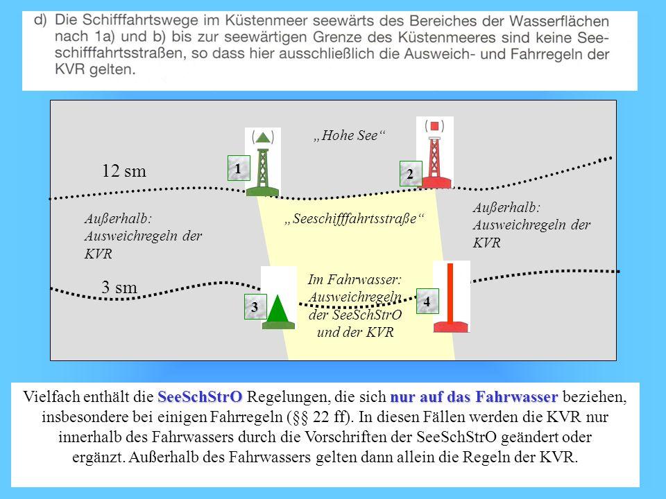 Im Fahrwasser: Ausweichregeln der SeeSchStrO und der KVR