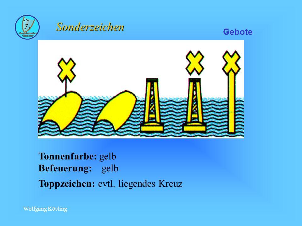 Sonderzeichen Tonnenfarbe: gelb Befeuerung: gelb
