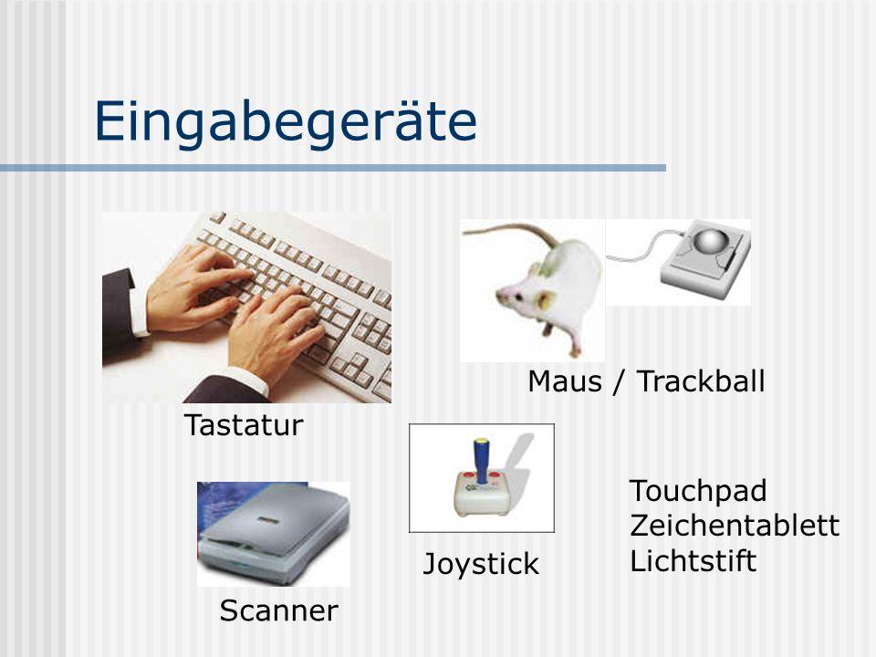 Eingabegeräte Maus / Trackball Tastatur