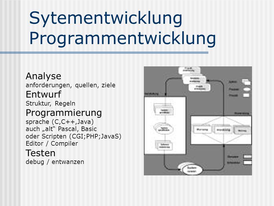 Sytementwicklung Programmentwicklung