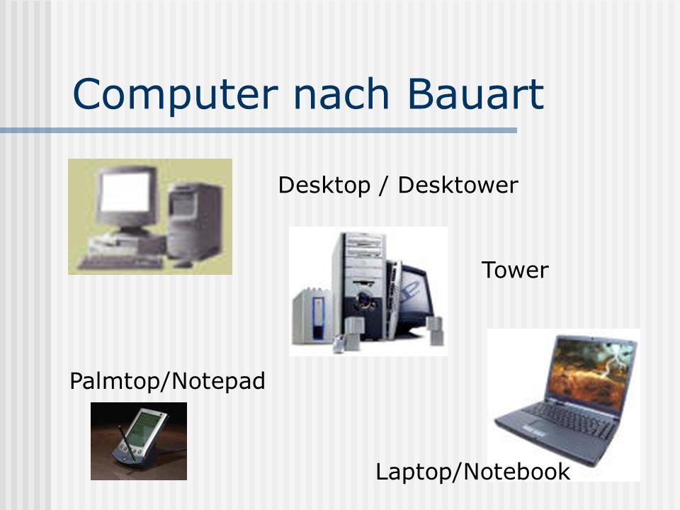 Computer nach Bauart Desktop / Desktower Tower Palmtop/Notepad