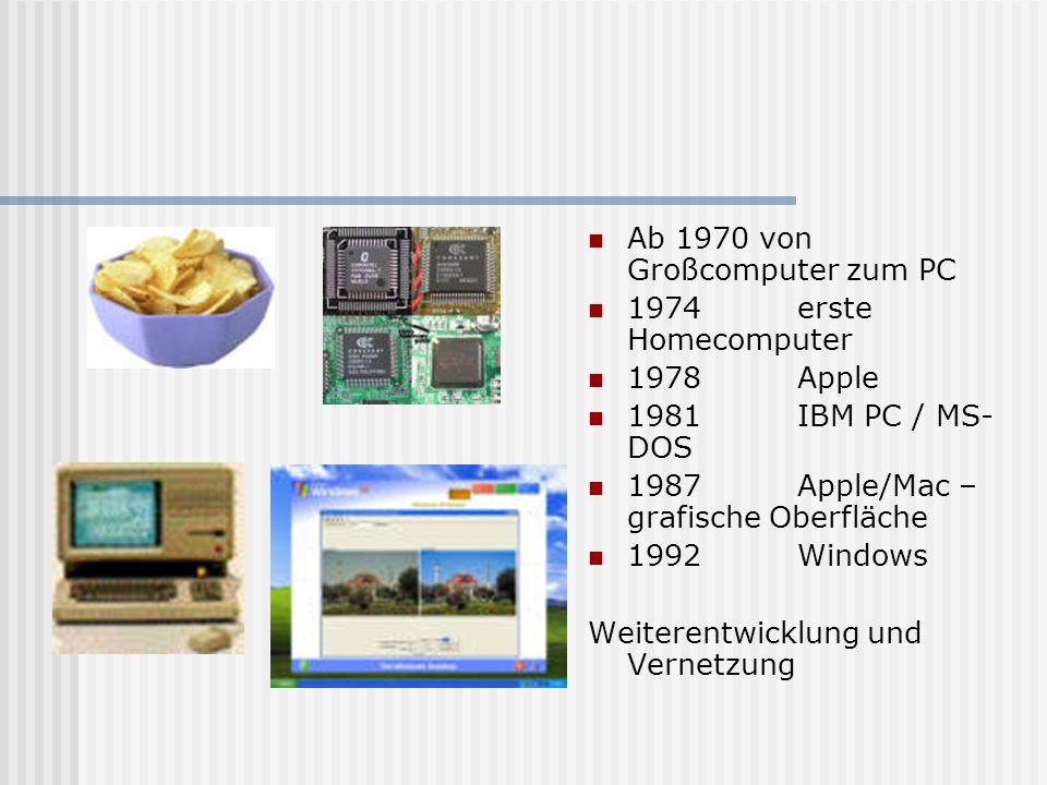 Ab 1970 von Großcomputer zum PC