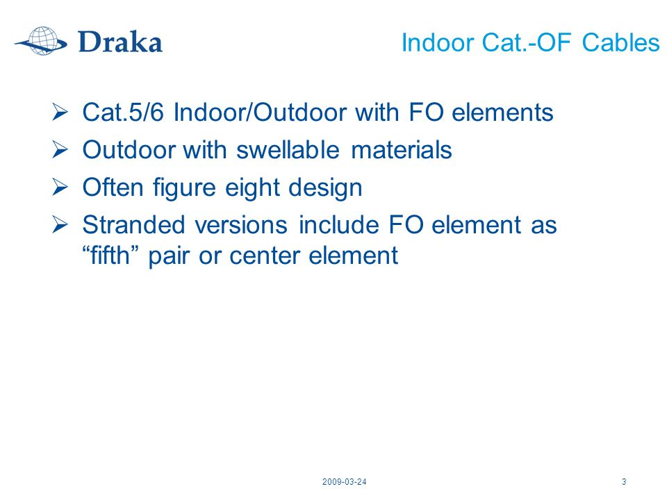 Cat.5/6 Indoor/Outdoor with FO elements