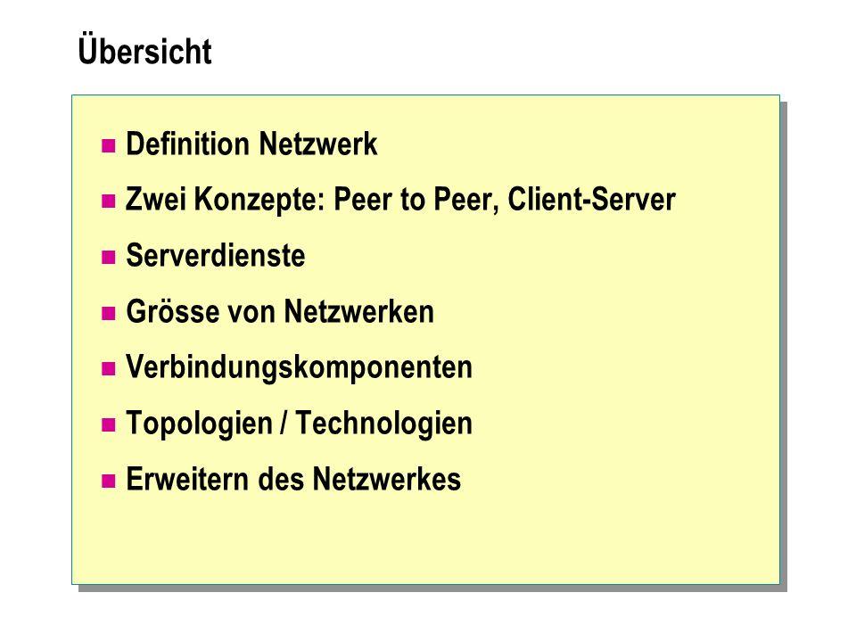 Übersicht Definition Netzwerk