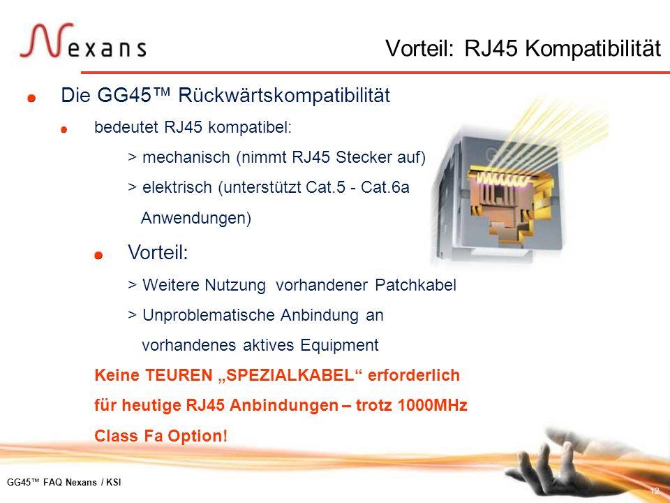 Vorteil: RJ45 Kompatibilität