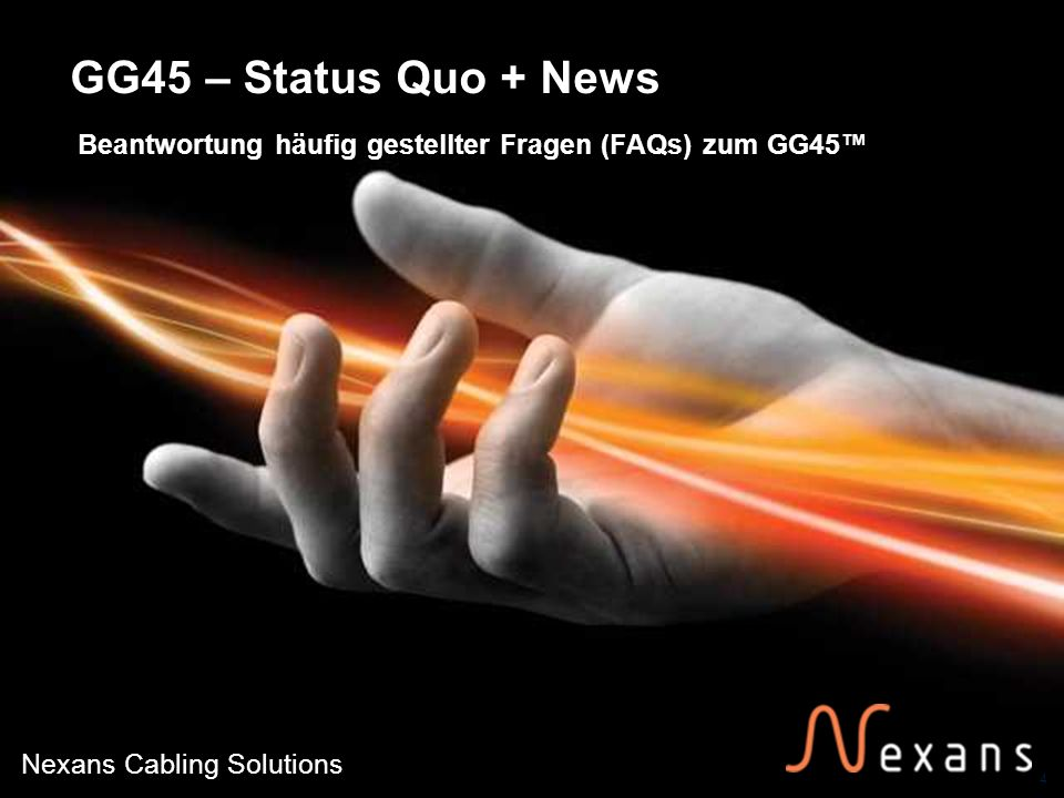 GG45 – Status Quo + News Beantwortung häufig gestellter Fragen (FAQs) zum GG45™