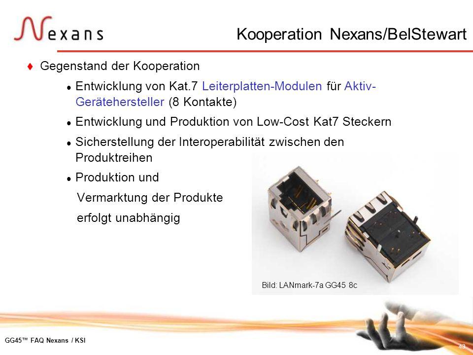 Kooperation Nexans/BelStewart
