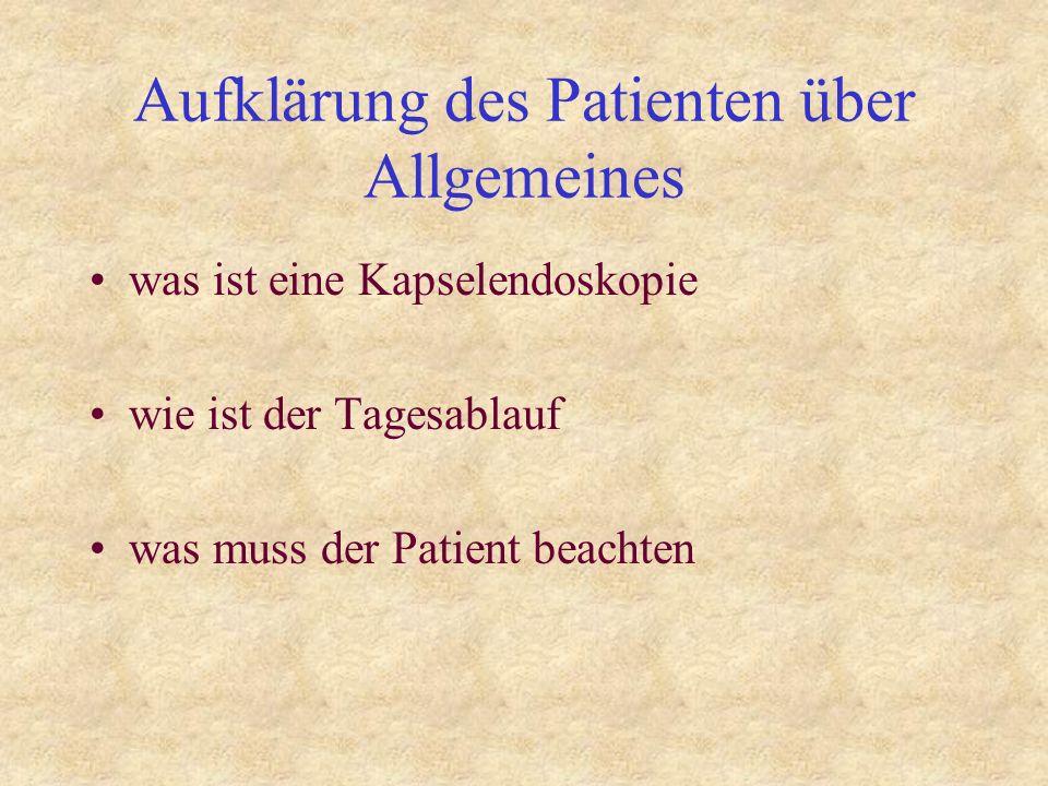 Aufklärung des Patienten über Allgemeines