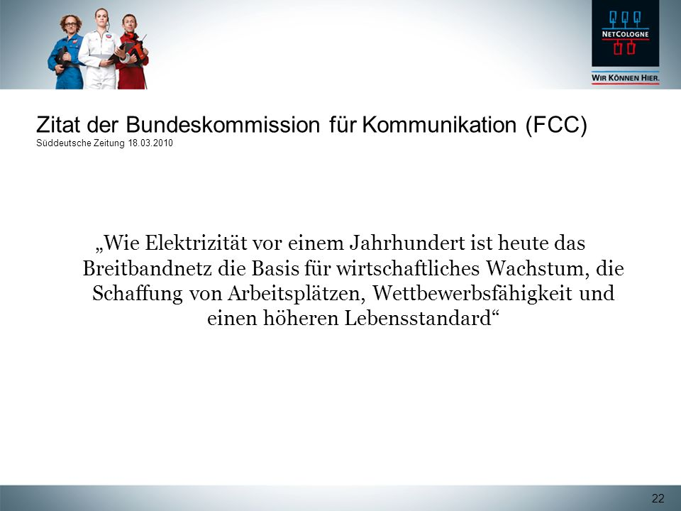 Zitat der Bundeskommission für Kommunikation (FCC) Süddeutsche Zeitung 18.03.2010